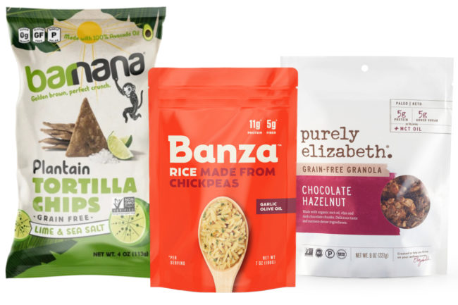 Grain-free products from Purely Elizabeth, Banza and Barnana