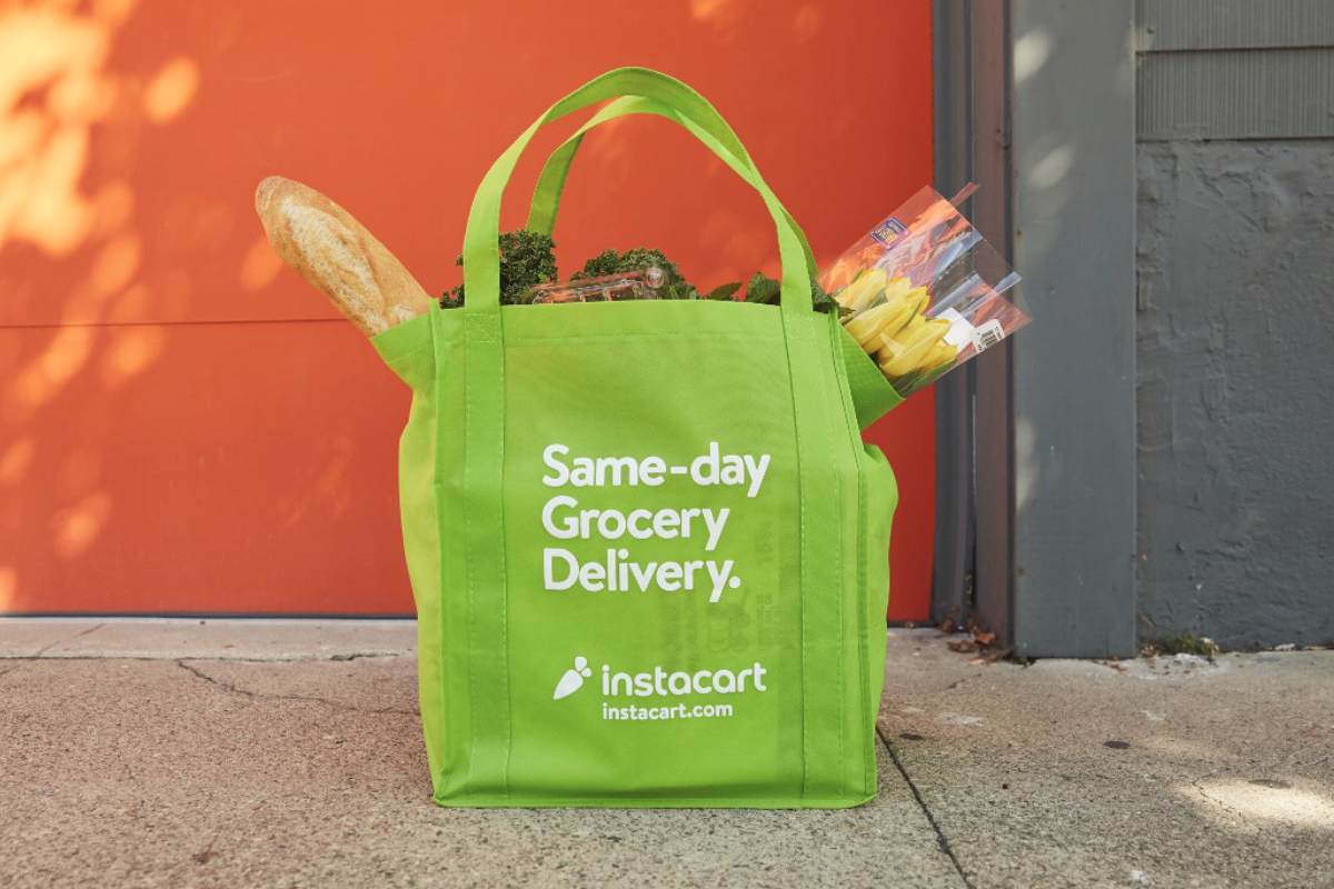 Instacart grocery delivery bag