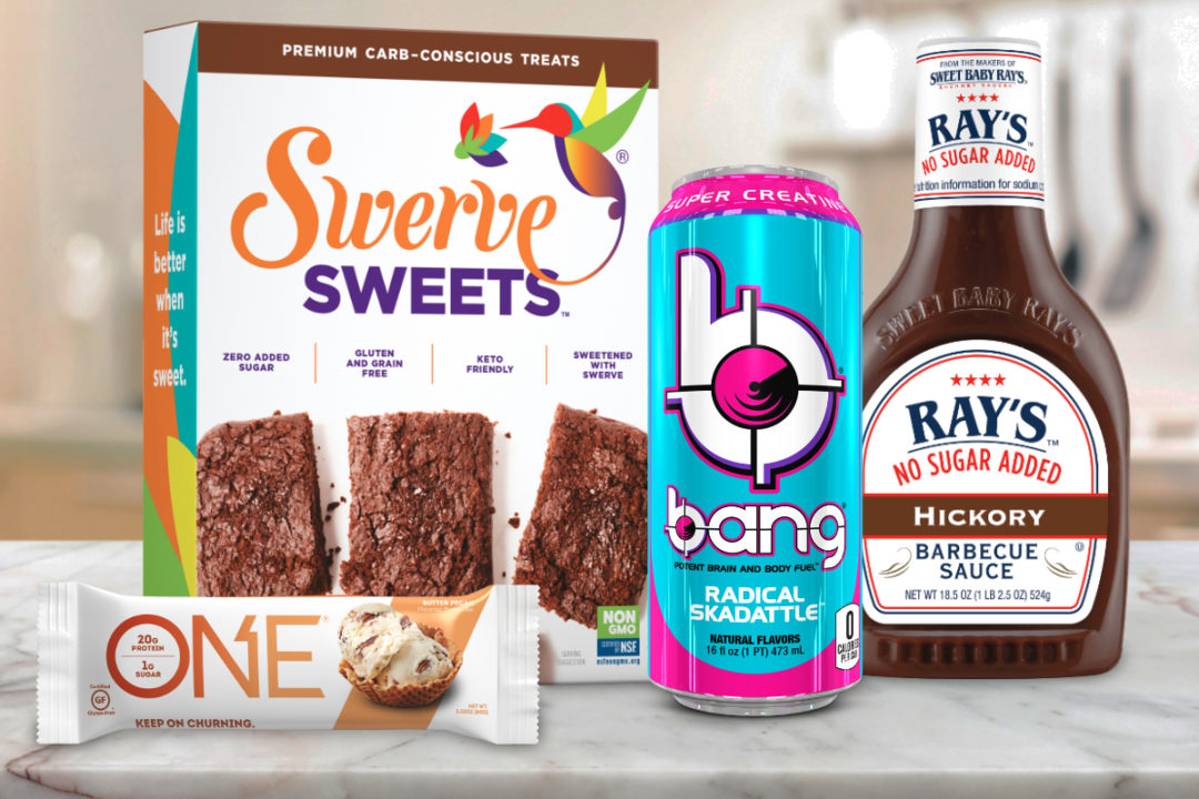 Low- and no-sugar new products from Hershey, Bang Energy, Sweet Baby Ray's and Swerve