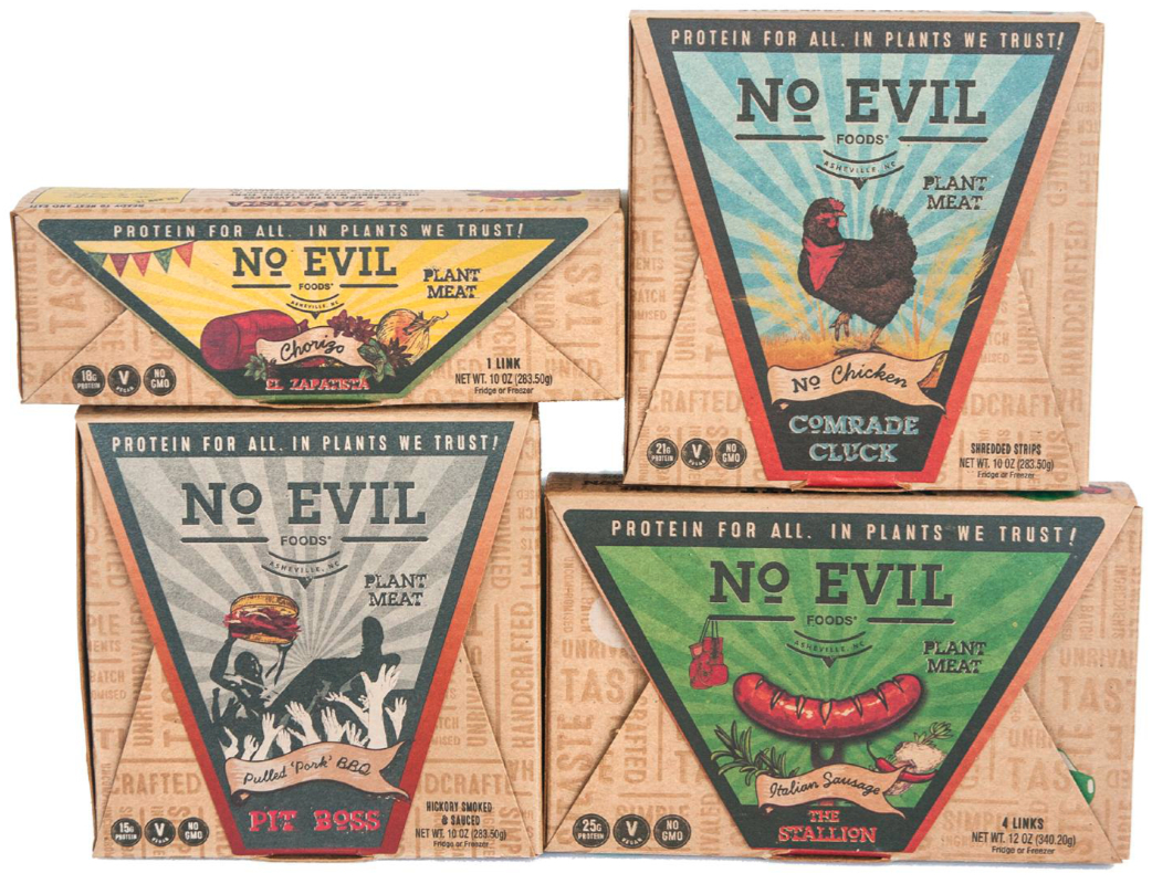 No Evil Foods plant-based products