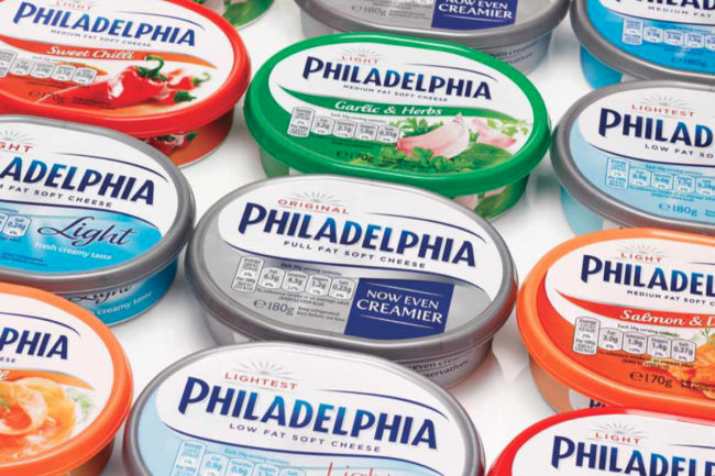 Philadelphia cream cheese recyclable packaging