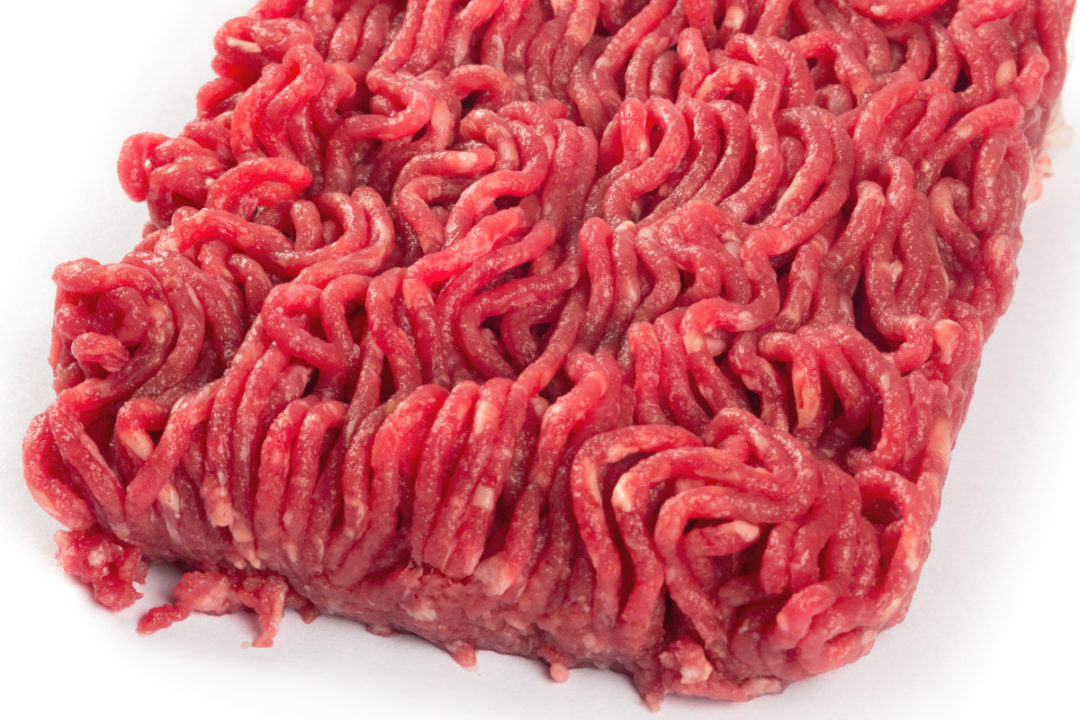 Raw ground beef