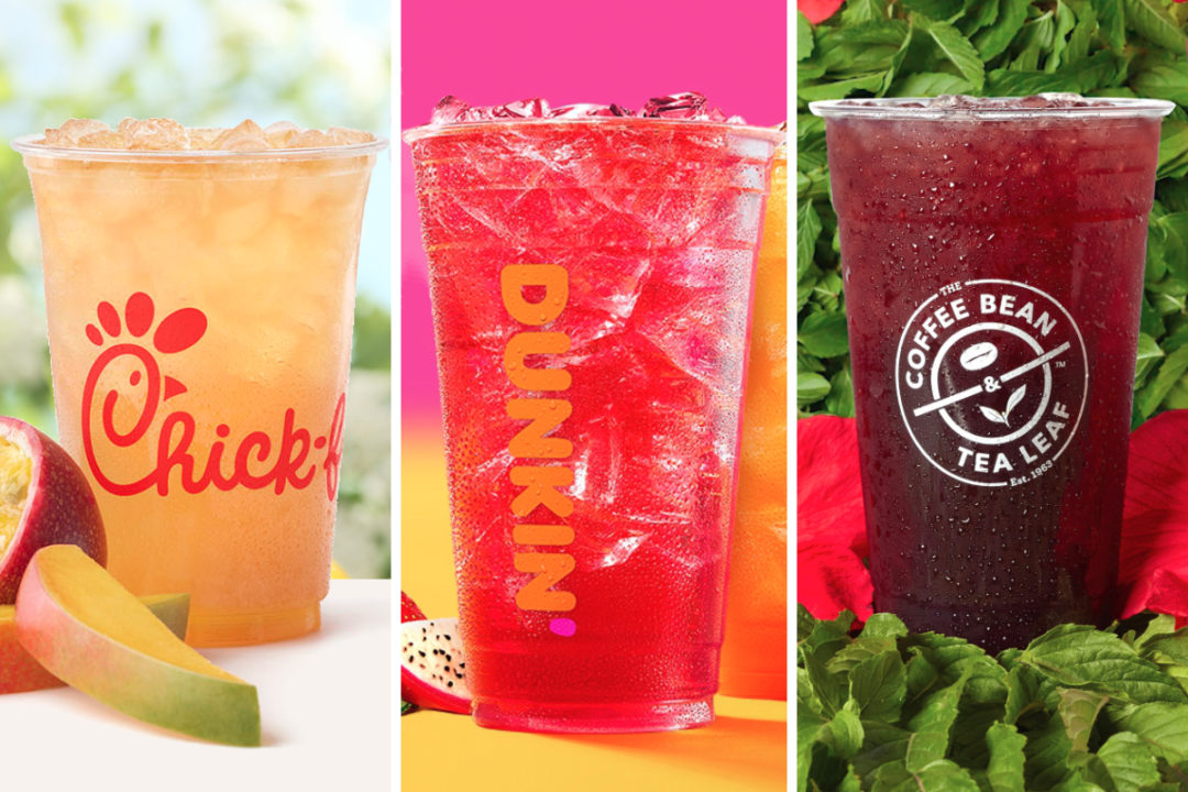 New tea-based beverages from Chick-fil-A, Dunkin and The Coffee Bean & Tea Leaf