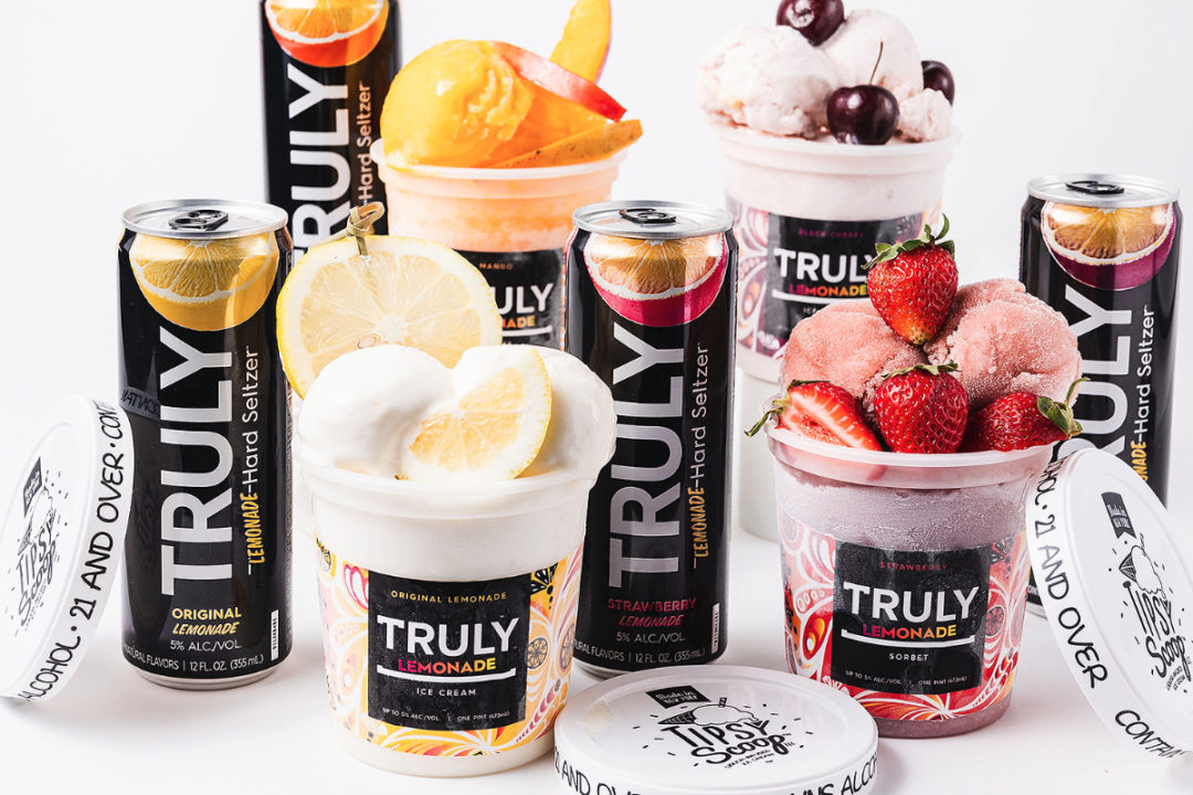 Truly Hard Seltzer ice cream and sorbet