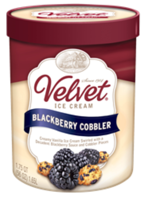 Velvet blueberry cobbler ice cream