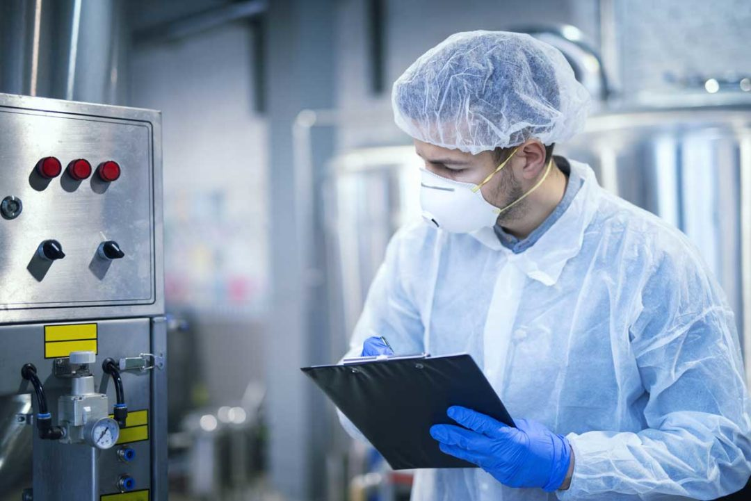 Food safety check in bakery facility