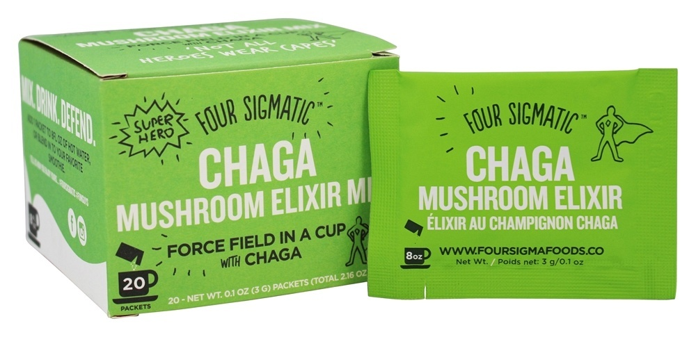 Four Sigmatic chaga mushroom beverage mix