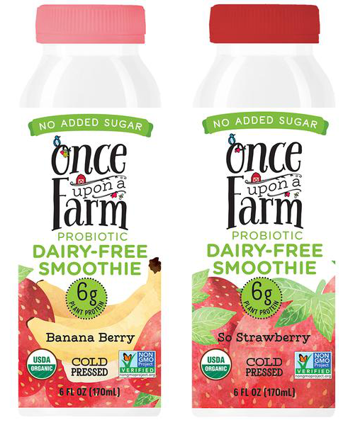 once upon a farm dairy-free smoothies