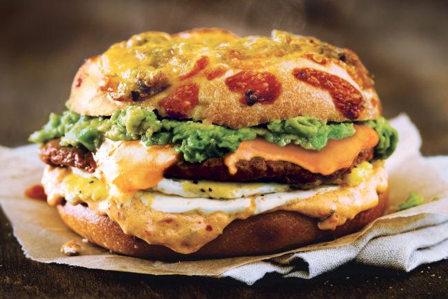 Einstein Bros. Bagels Beyond Sausage Spicy Sunrise Egg Sandwich