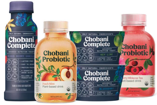 Chobani Probiotic plant-based beverages and Chobani Complete lactose-free Greek yogurt food and drinks