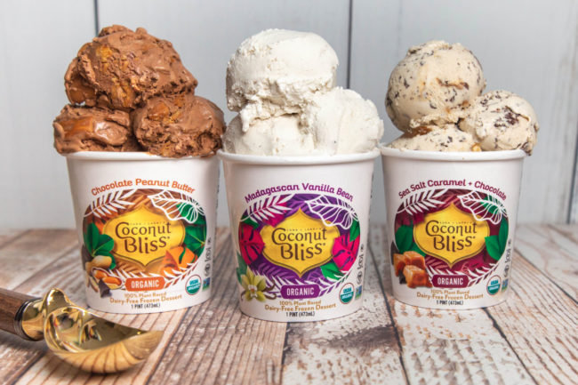 Coconut Bliss plant-based frozen desserts