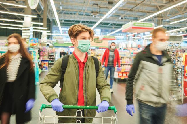 Grocery shopping during the coronavirus pandemic