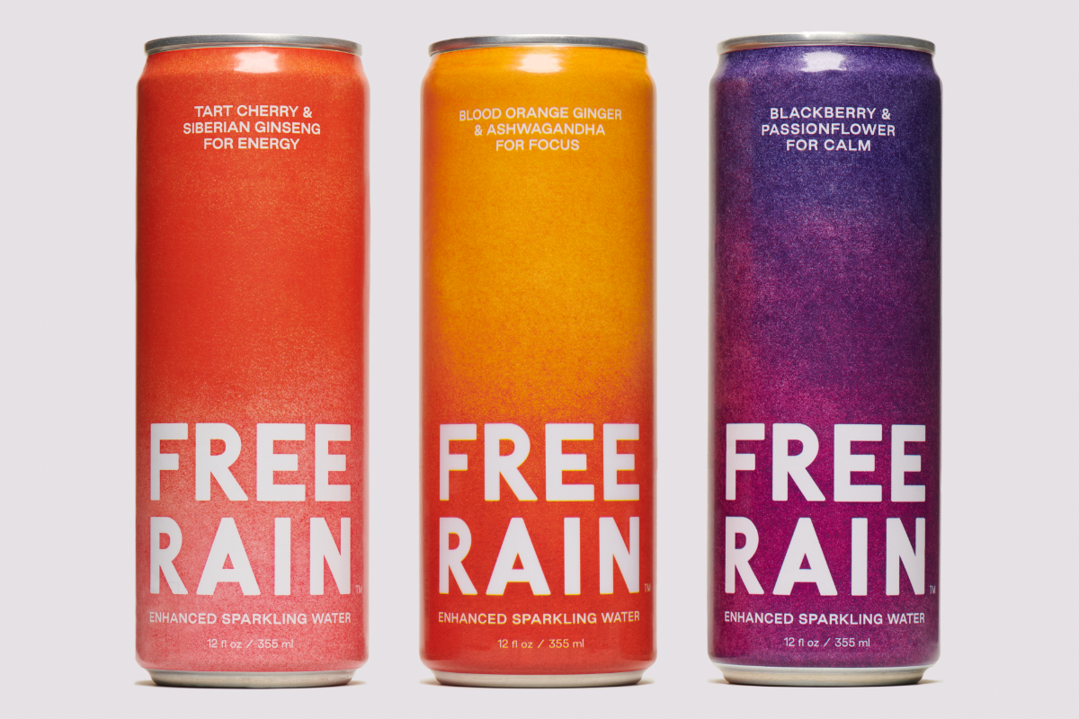 Free Rain enhanced sparkling waters