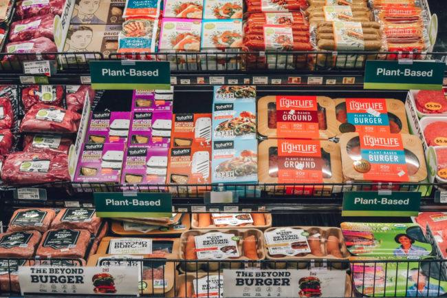 Kroger plant-based meat section