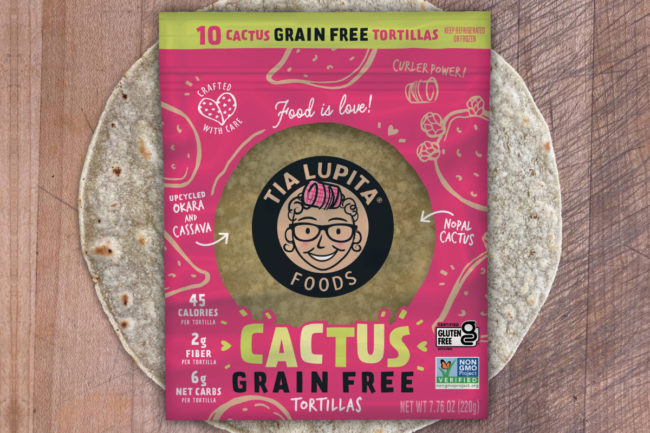 Tia Lupita Foods upcycled grain-free tortillas