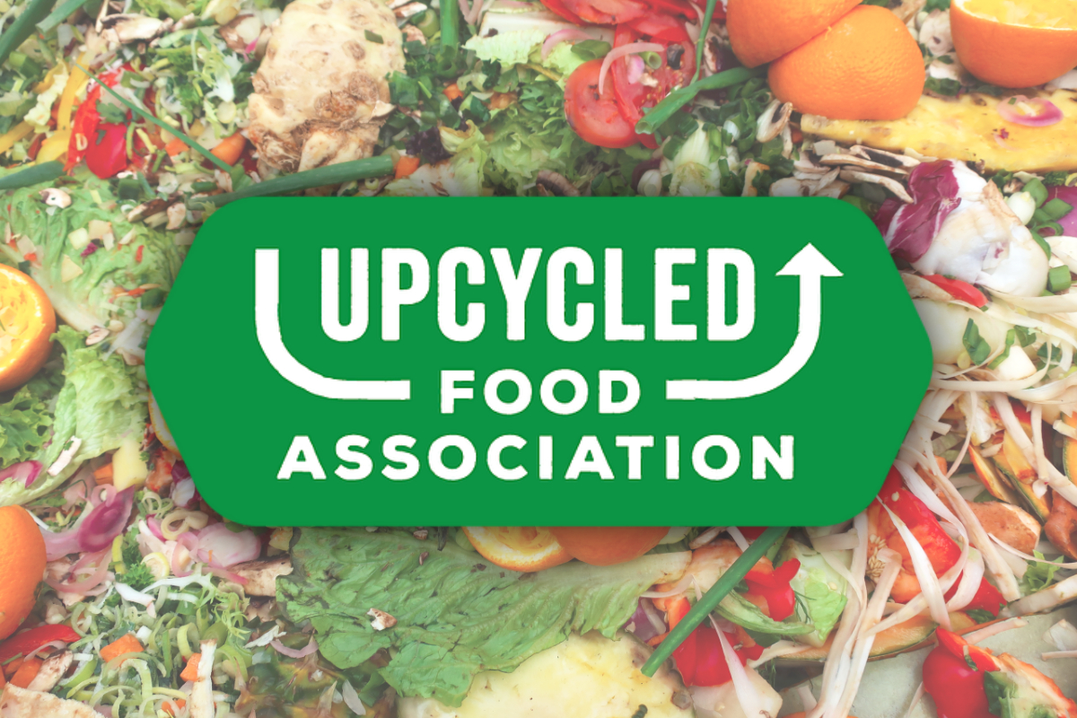 Upcycled Food Association logo and food waste