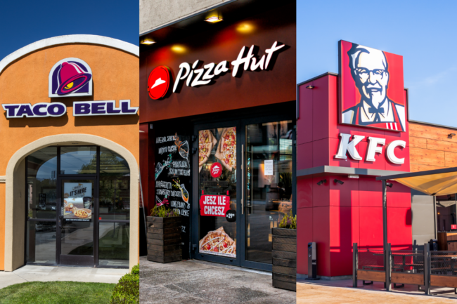 Taco Bell and Habit Burger Grill store exteriors