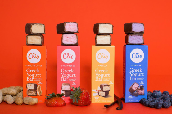 Yogurt bars from Clio Snacks