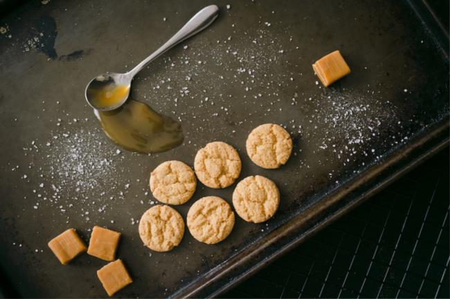 Bite sized caramel cookies