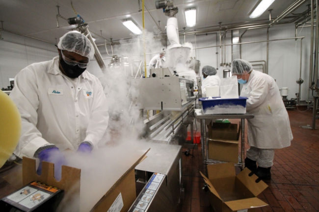 Dippin Dots' cryogenic freeze drying facility