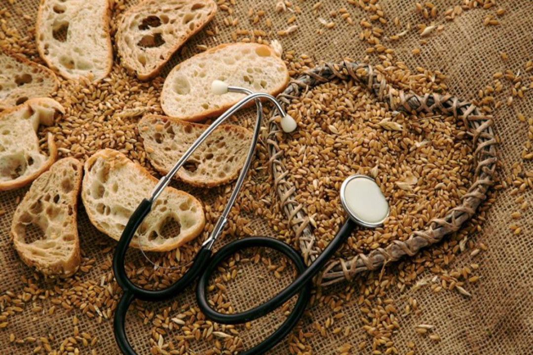 Enriched grain breads with a stethoscope