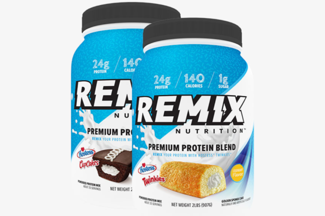 New protein powders featuring Hostess snack cake flavors from bodybuilding.com