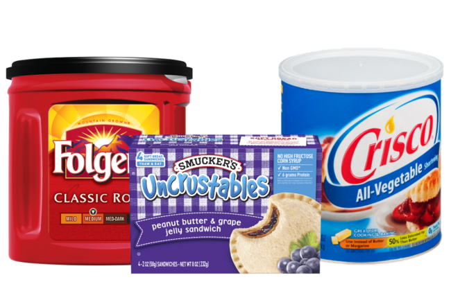 JM Smucker Co.'s Folger's Coffee, Uncrustables and Crisco products