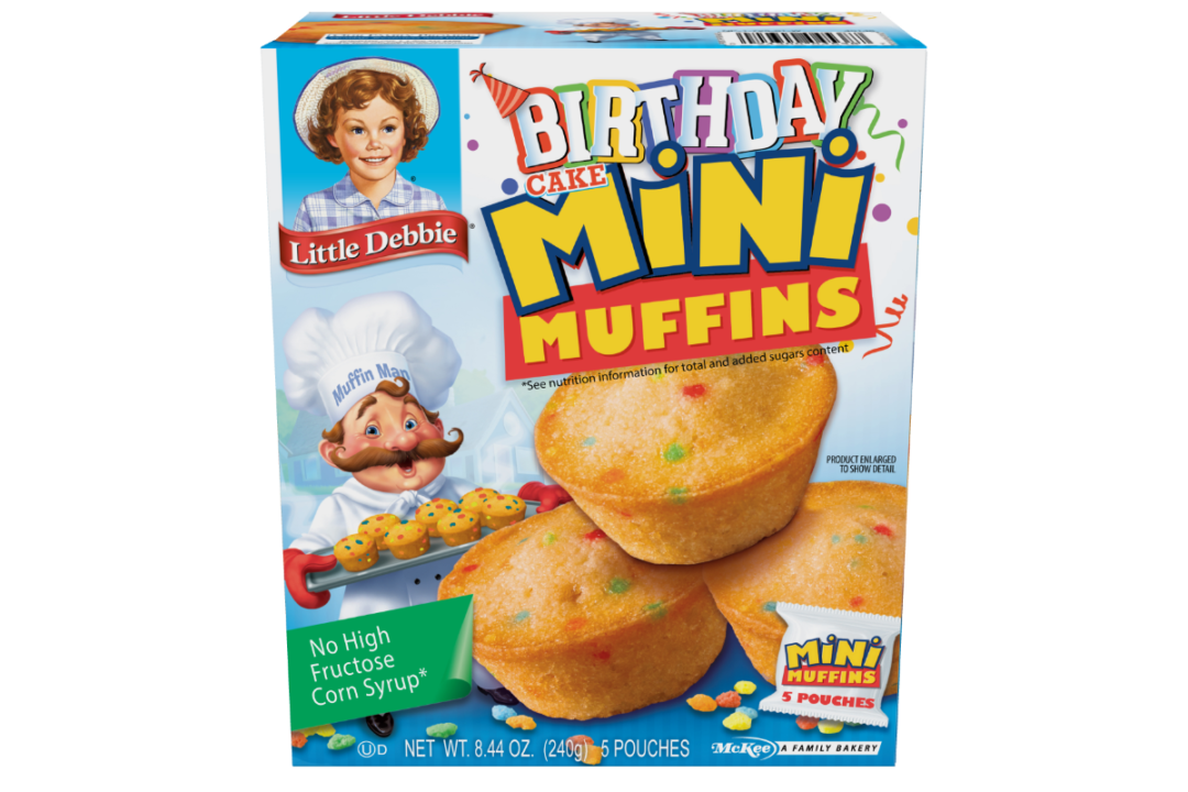 Little Debbie birthday cake mini muffin packaging