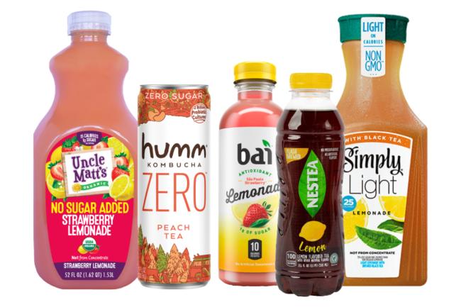 Uncle Matt's Organic lemonade, Humm Zero, Bai fruit juice, Nestea RTD tea and Simply Light lemonade