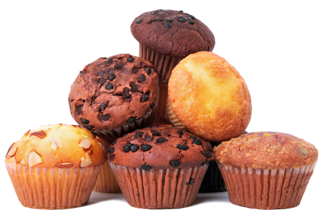 Variety of muffins