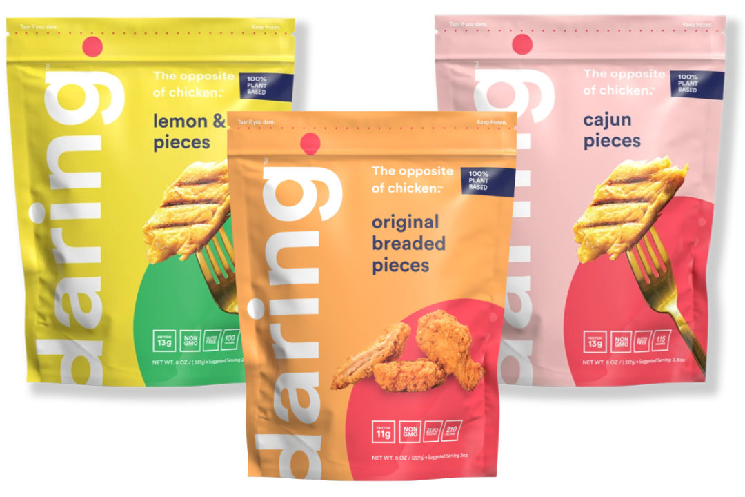 Daring plant-based chicken products