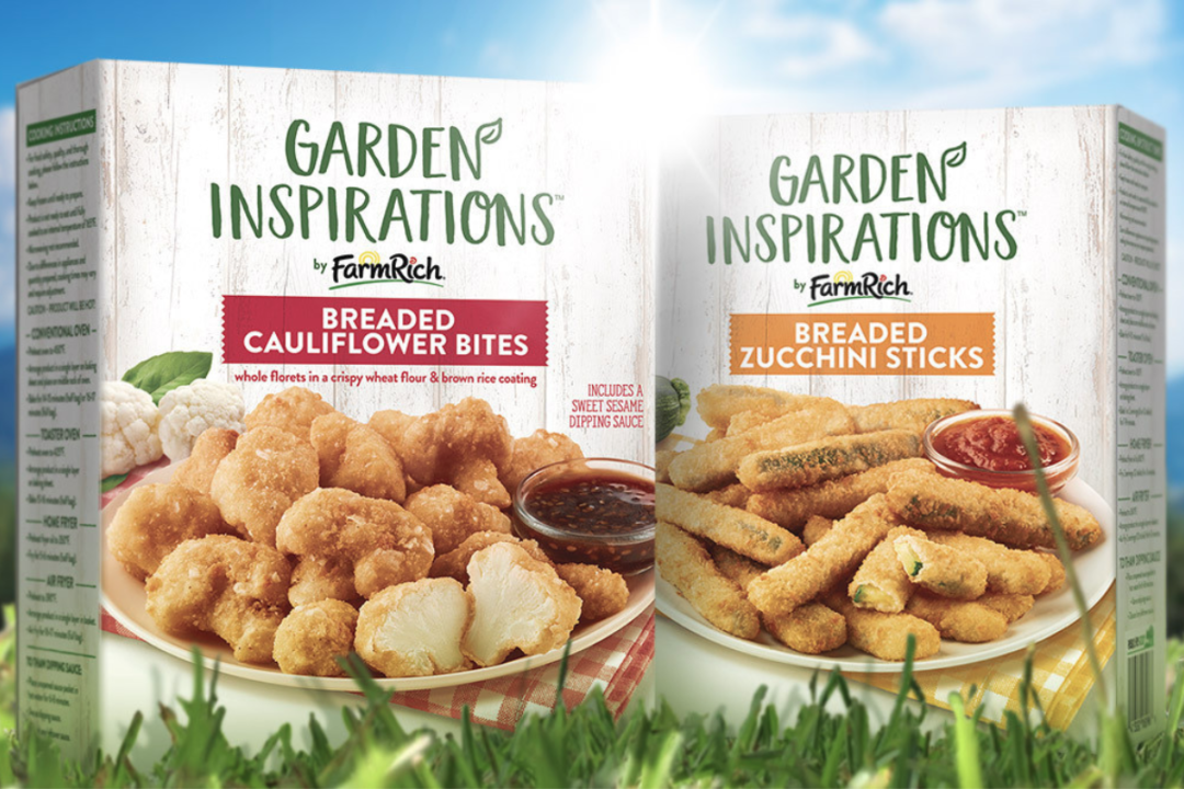 Farm Rich Garden Inspiration frozen breaded zucchini sticks and frozen breaded cauliflower bites