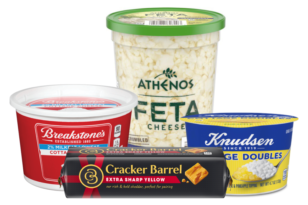 Kraft Heinz's Cracker Barrel, Breakstone's, Knuden and Athenos cheese products