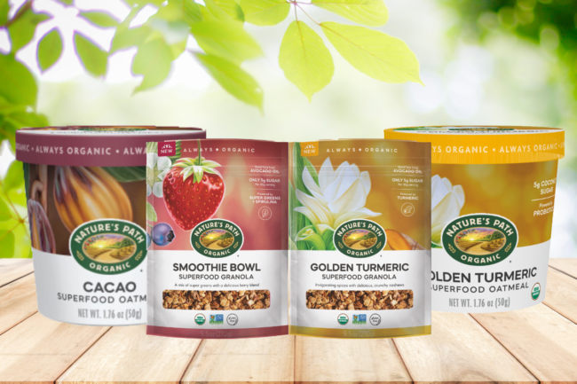 Nature's Path Superfood Oatmeal and Granola products