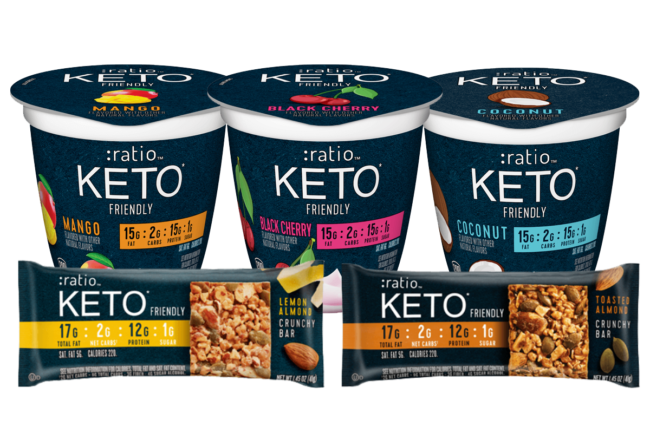 Ratio keto-friendly yogurts and snack bars from General Mills