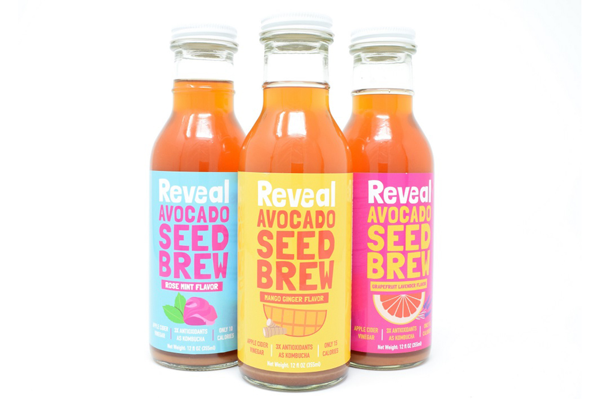 Reveal avocado seed brew