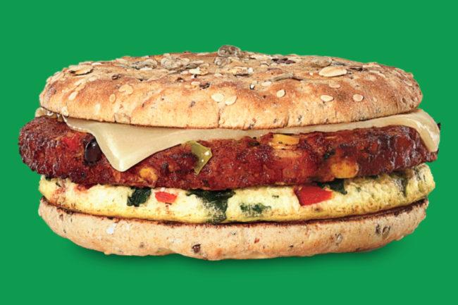Dunkin Southwest Veggie Power Breakfast Sandwich
