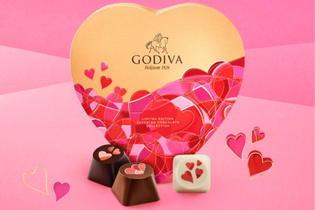 Godiva Valentine's Day collection