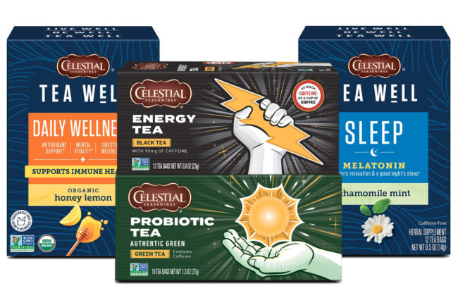 Hain Celestial Seasonings functional teas