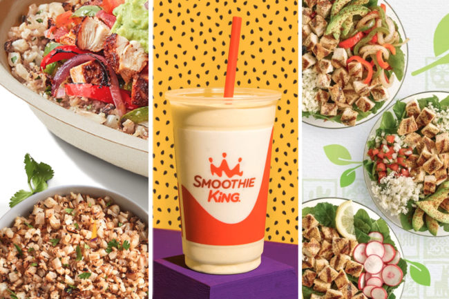 New healthy menu items from Chipotle, Smoothie King and El Pollo Loco