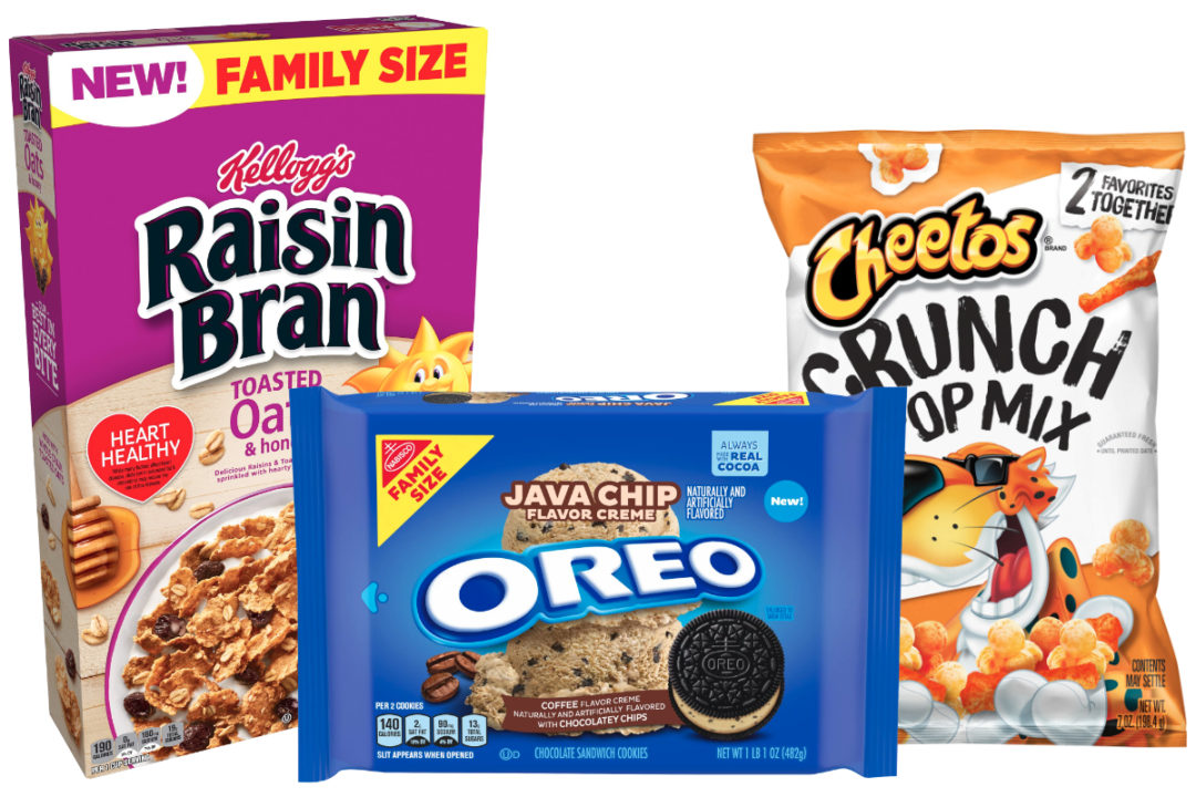 New products from Mondelez, Kellogg, PepsiCo