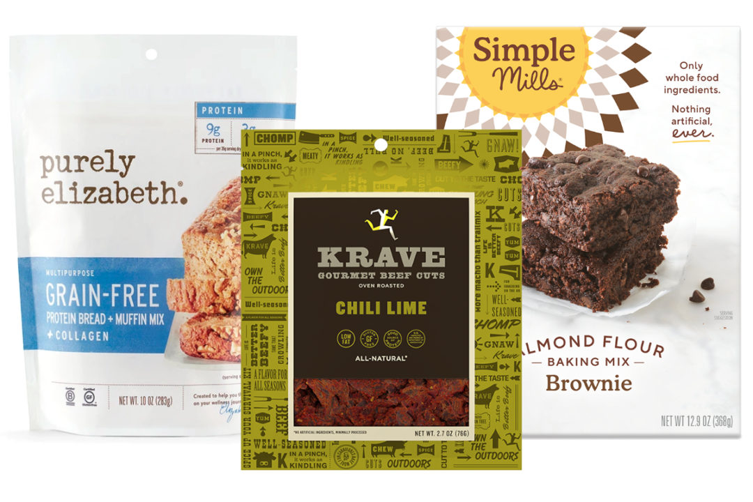 Purely Elizabeth, Krave Jerky and Simple Mills products