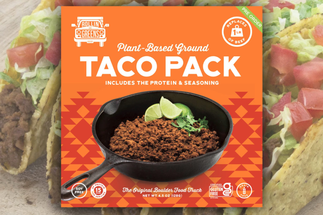RollinGreens plant-based taco pack