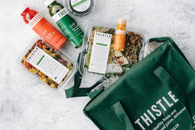 Thistle meal kit delivery bag