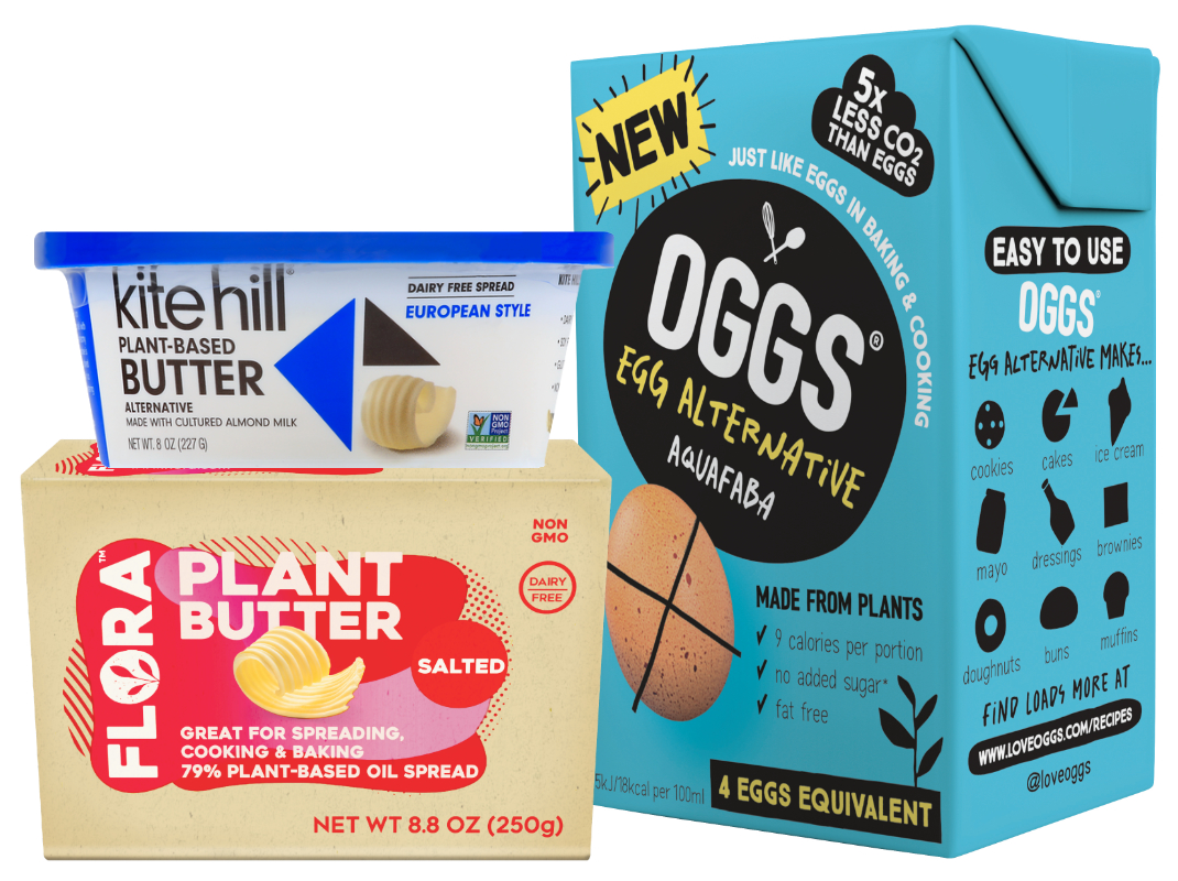 Vegan egg and butter alternatives