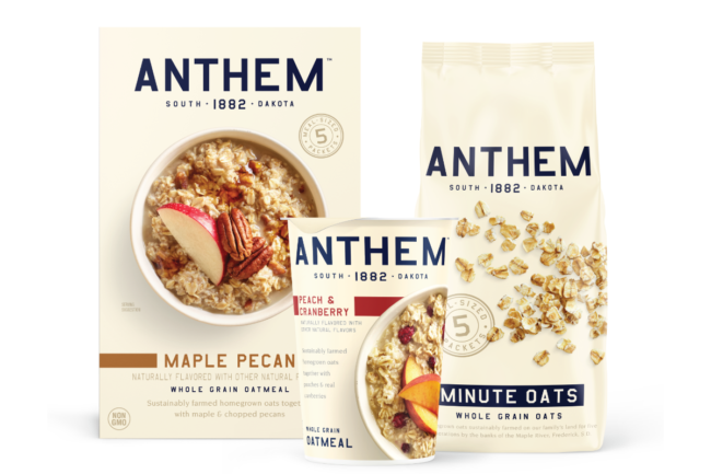 New oatmeal varieties from Anthem Oats