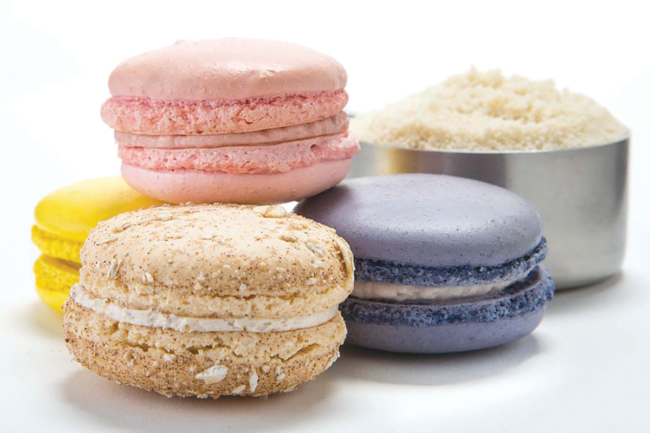 Low-carb macaroons made with Blue Diamond Almond Flour