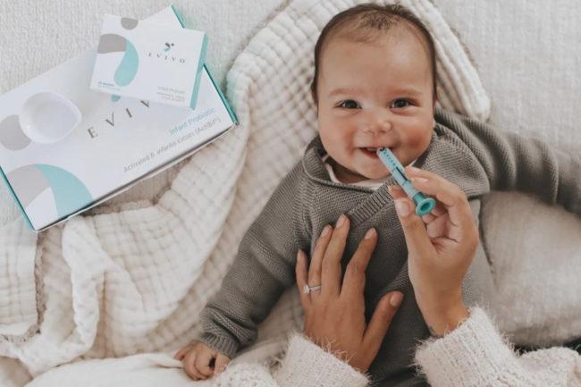 Evolve BioSystems Evivo probiotic powder designed for infants
