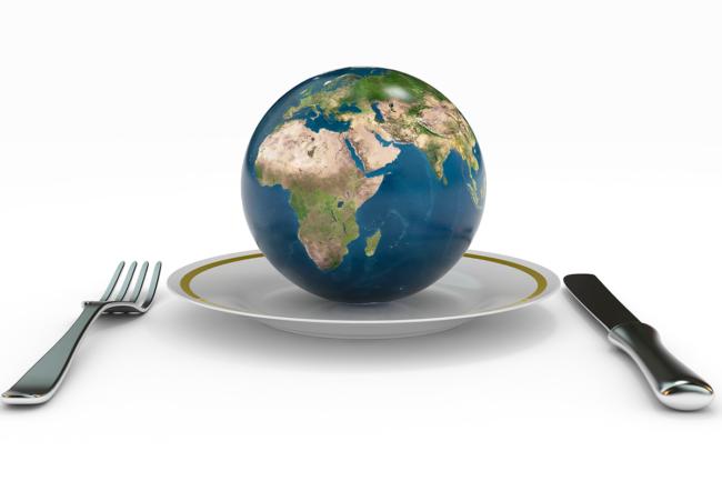 Globe on a plate