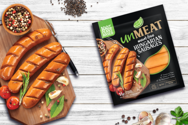 Plant-based sausage from Century Pacific Foods
